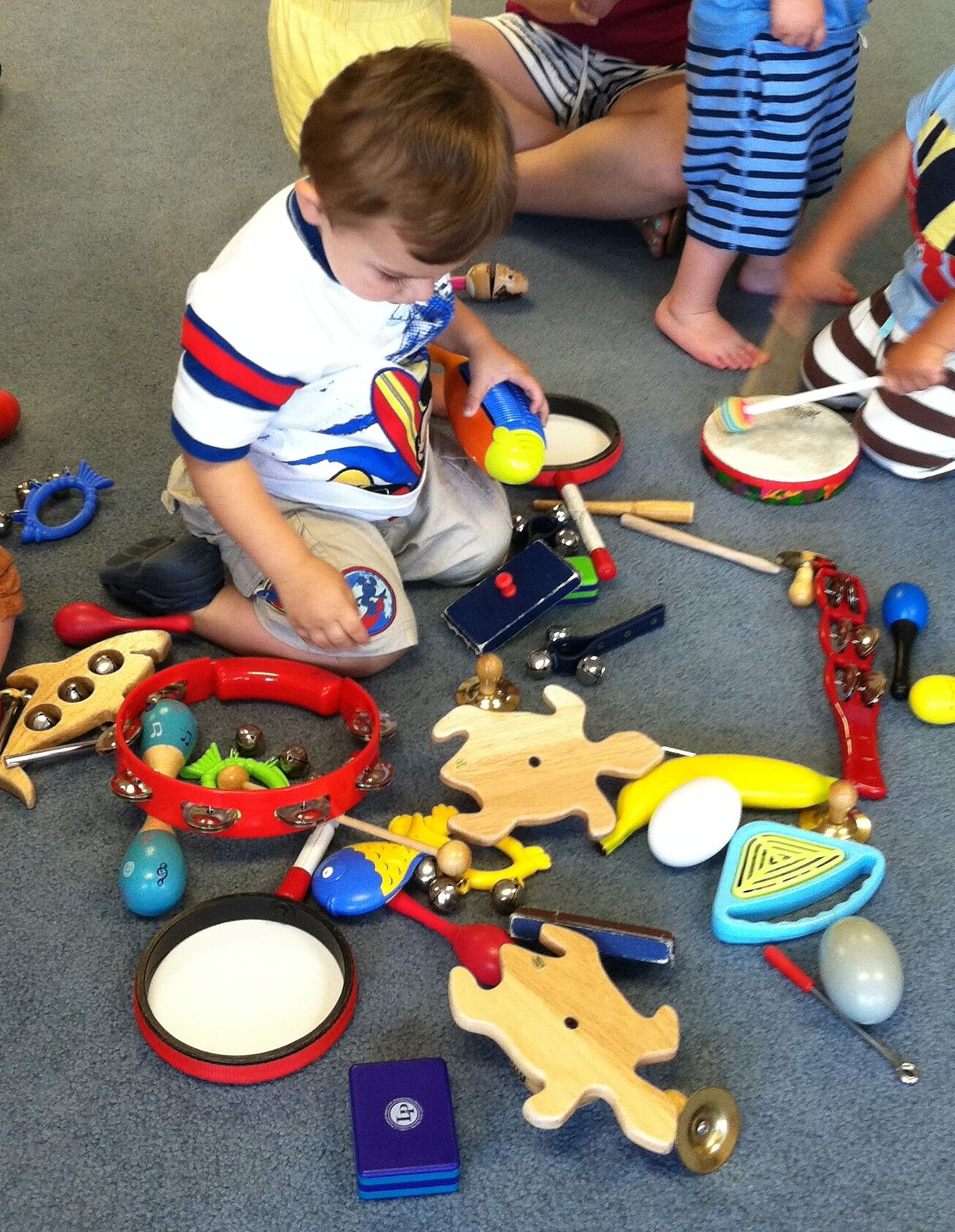 Roc LOVED the jam session as part of each Music for Aardvarks class.