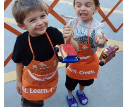 {Guest Post} Handy Kids at Home Depot with Playground Talk