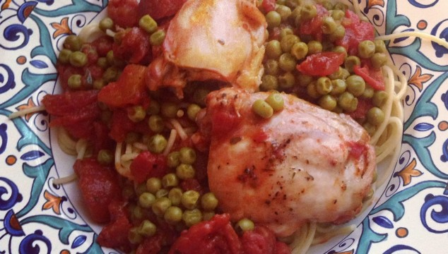 Swap Your Oven for the Grill: Chicken with Peas & Tomatoes and Grilled Vegetables Two Ways