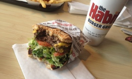 Taking a bite of the Habit's Charburger