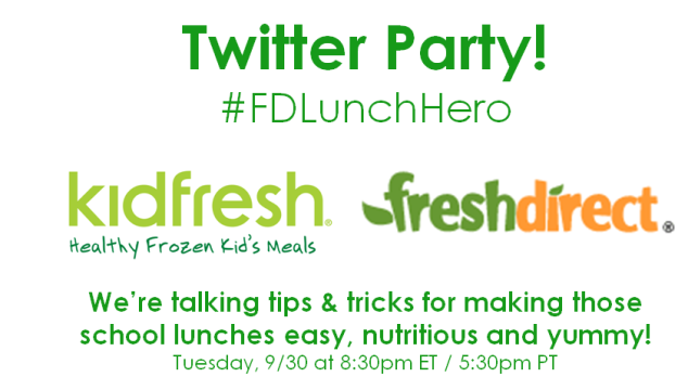 Join Us for a Kidfresh & FreshDirect Twitter Party! – Tues, 9/30 at 8:30pm ET