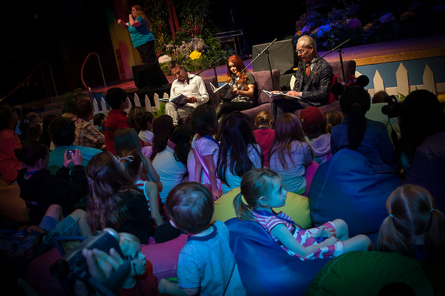 Story time with David Arquette, Ariel Winter and Tim Gunn