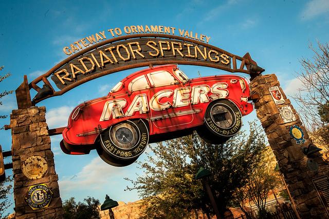 My FAVORITE ride: Radiator Springs Racers (photo credit: Josh Hallett)