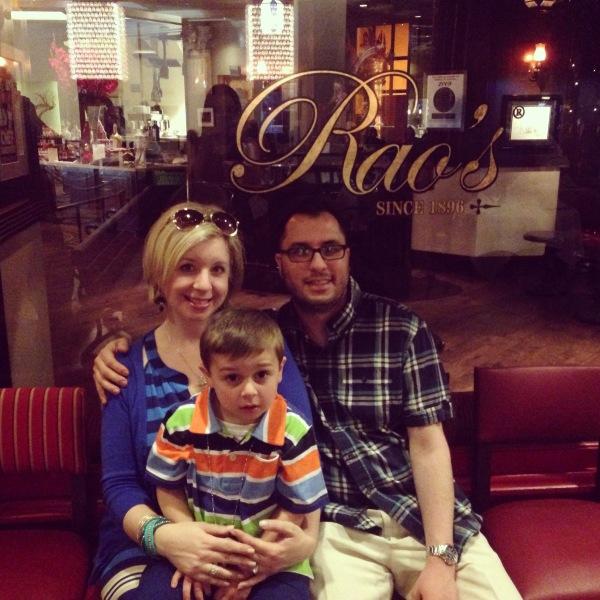 Dinner at Rao's Las Vegas