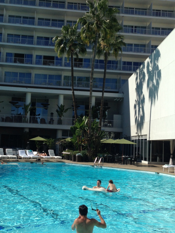 The pool at The Beverly Hilton