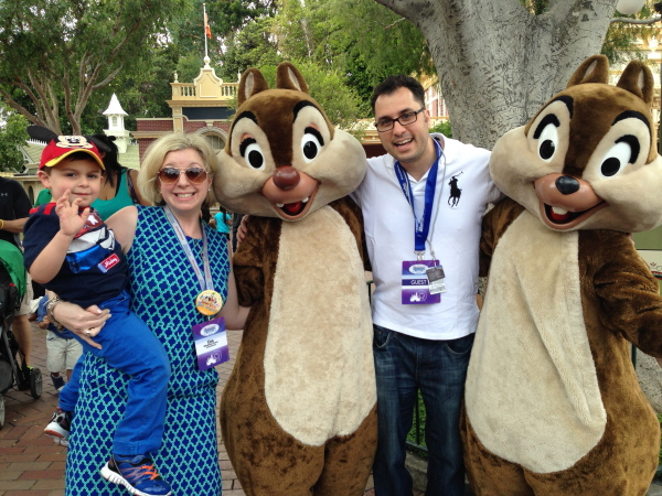 We did it! Up close and personal with Chip and Dale