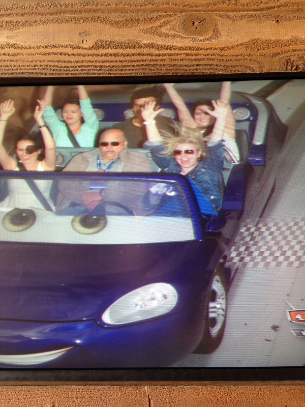 Hands up! Snagged a shot from Radiator Springs Racers