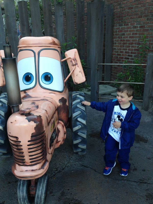 Roc loved interacting with Tow Mater