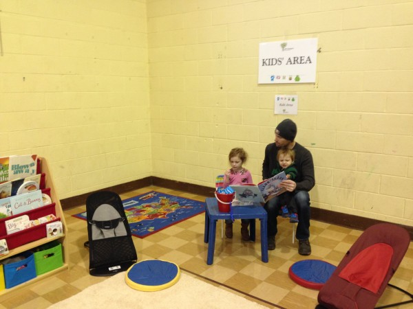 The family-friendly event had an indoor kids area
