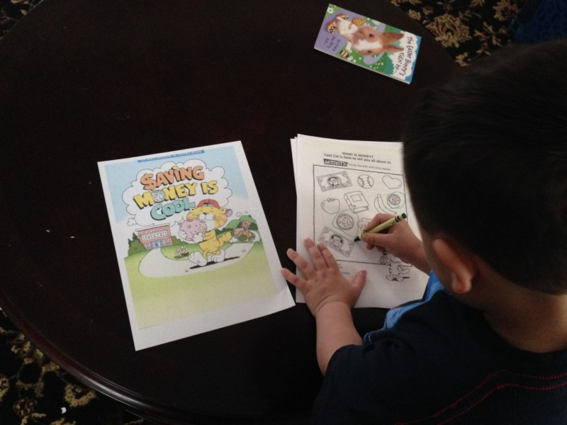 Roc gets to work in his activity book