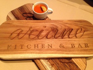 Ariane Kitchen + Bar's tomato soup with grilled cheese gnocchi