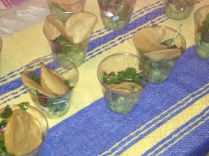 Villalobos' guacamole with English peas and bacon