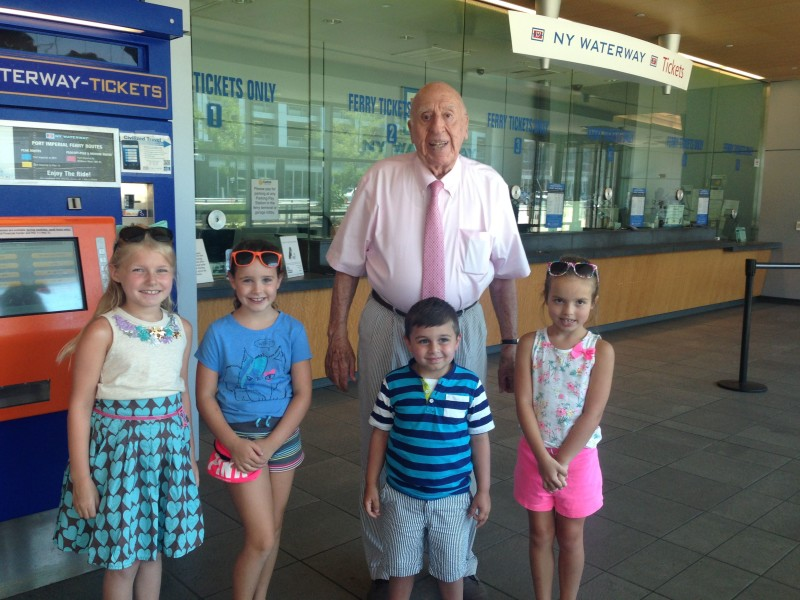 Mr. Imperatore, NY Waterway owner, greeted our group