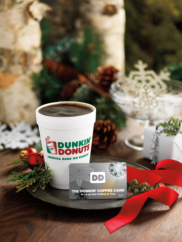 Dunkin' Coffee Card holiday gifts