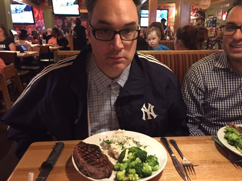 Uncle Chris - before he digs in...