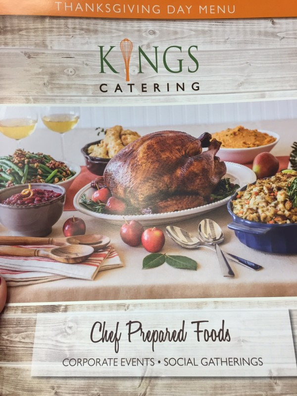 Kings Food Markets Thanksgiving Menu